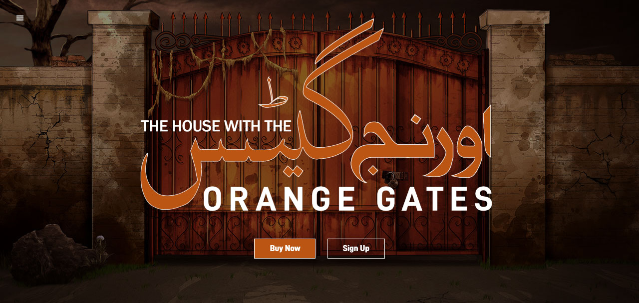 The House With The Orange Gates website home page.
